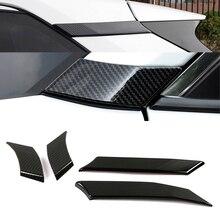Für Toyota Rav 4 Rav4 2019 2021 Carbon Fiber Farbe Auto Tür Fenster Halterung EINE Säule Schutz Abdeckung C säule Trim ABS Aufkleber
