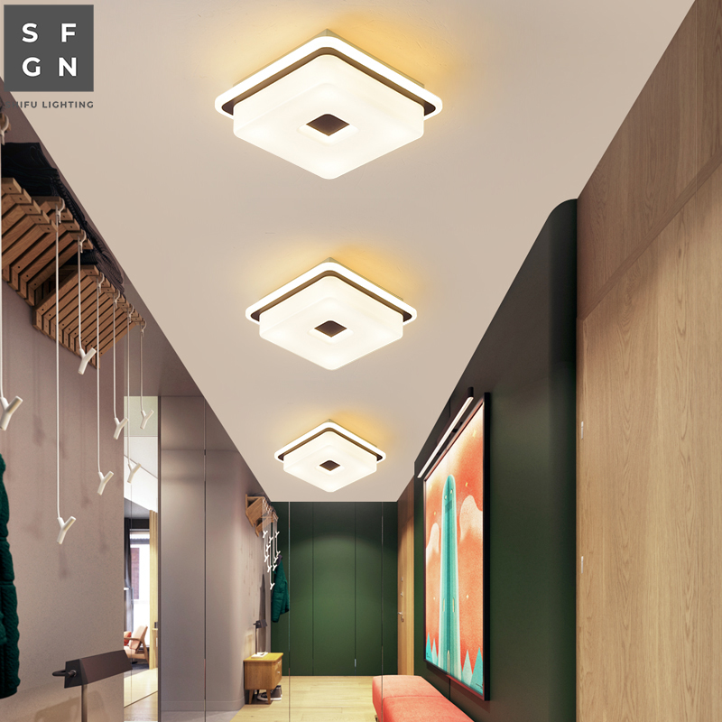 Modern Led Ceiling Light Lamp Home Ceiling Lighting Indoor For Aisle Balcony Bedroom Study Dining Room Ceiling Lights Aliexpress