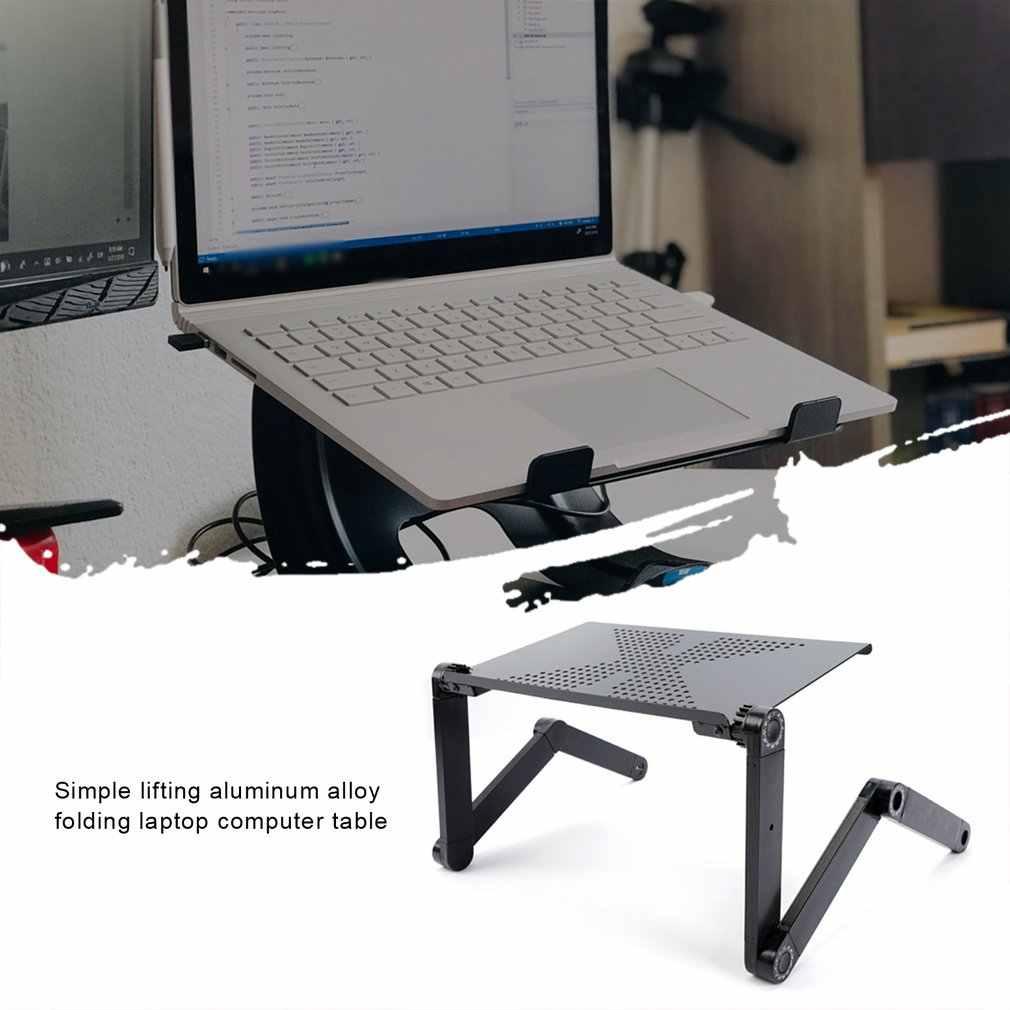 Регулируемый портативный складной компьютерный столик из алюминиевого сплава для ноутбука, настольная подставка, компьютерный стол для дивана-кровати