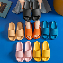 Women Thick Platform Slippers Summer Beach Eva Soft Sole Slide Sandals Leisure Men Ladies Indoor Bathroom Anti-slip Shoes cheap SENLIYA Flat (≤1cm) Slides CN(Origin) Flat with 3-5cm Fits true to size take your normal size Solid Adult NONE