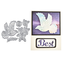 InLoveArts pigeon branch Metal Cutting Dies Leaves Flower navidad metal cutting dies 2020 flower scrapbooking natal die cut