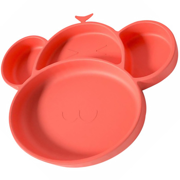 1 ud. Plato de silicona dividido con ventosa plato de utensilios