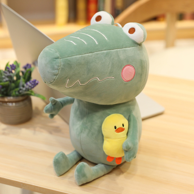 25/35/45CM Lovely Big Eyes Crocodile with Duck Stuffed Cute Animal Plush Toys for Children Kids Kawaii Doll Pillow Cartoon Gift