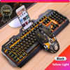 Gaming Keyboard Mouse Mechanical Feeling RGB LED Backlit Gamer Keyboards USB Wired Keyboard Computer Game Keyboard For PC Laptop 1