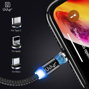 Udyr Magnetic Micro USB Type C Cable For iphone Samsung Android 2M Fast Charging Magnet