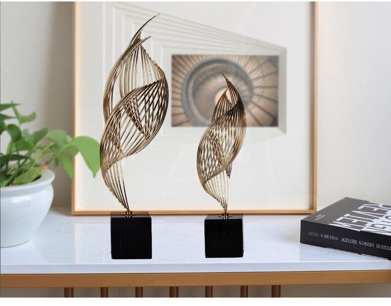 Criativo nordic simples decoração de casa metal