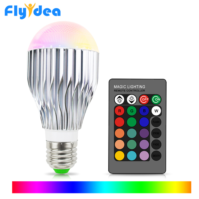 E27 16 head color changing bulb 110V 220V festival dimming bundi stage light + 24key suitable for home infrared remote control