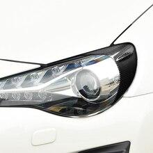 цена на For Subaru BRZ For Toyota GT86 2012-2016 Carbon Fiber Headlights Eyebrows Eyelids Car Stickers Front Rear Eyebrows Trim Sticker