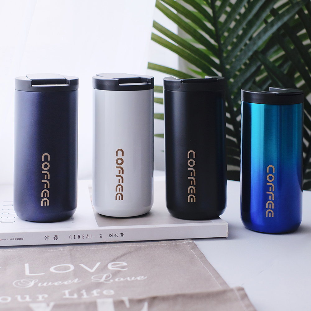 350ml/500ml Double Stainless steel 304 Coffee Mug Leak Proof Thermos Mug Travel Thermal Cup Thermosmug For Gifts|Mugs|   - AliExpress