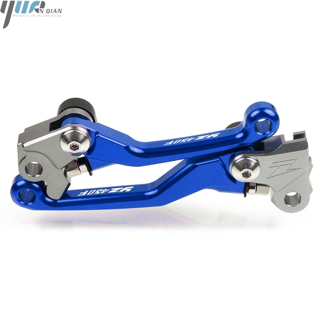 For YAMAHA YZ450F YZ450 F YZ 450F 2009-2018 2017 2016 2015 14 Motocross CNC Pit Dirt Bike Pivot Handle Lever Brake Clutch Levers