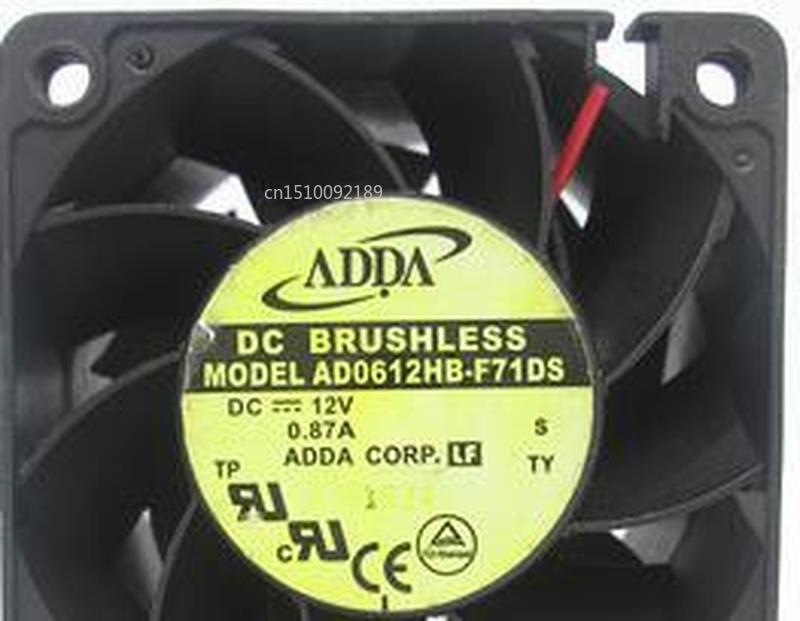 For AD0612HB-F71DS 12V 0.87A 6038 6CM/cm Large Air Volume Double Ball Fan  Free Shipping
