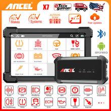 Ancel X7 OBD2 samochodowe narzędzia diagnostyczne pełny układ skaner samochodowy Bluetooth WIFI czytnik kodów SAS narzędzie do kasowania inspekcji olejowej darmowa wysyłka tanie tanio CN (pochodzenie) Ancel X7 Car Diagnostic Tools OBD2 Scanner Professional 12cm 24cm Power Bluetooth Scanner+Tablet Mierniki i analizatorów