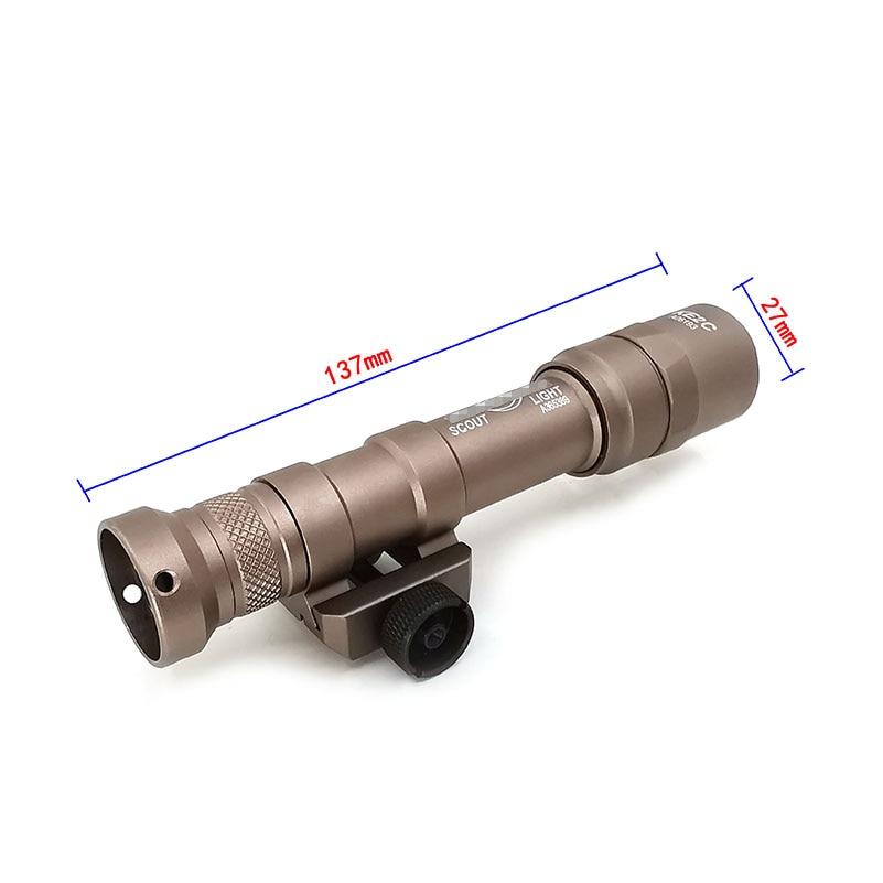 mini arma luz caber 20mm montagem 05