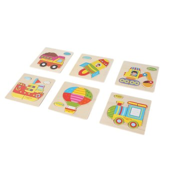 цена OCDAY Kids 3D Puzzle Jigsaw Wooden Toys Cartoon Animal Puzzles Intelligence Children Early Educational Toys Gifts for Kids Baby онлайн в 2017 году