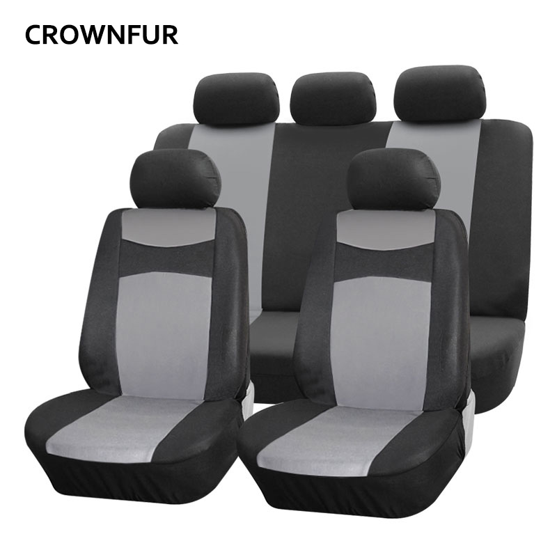Фото - Universal car seat cover Premium car cover Fit for most cars high quality grey polyester seat covers popular style car interior carking xxft outdoor hatchback car anti dust cover for fiesta silver grey