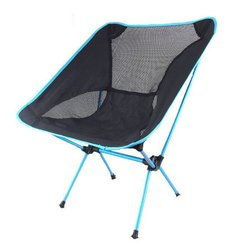 Outdoor aluminium składane krzesło przenośne krzesło wędkarskie fotel reżysera księżyc krzesło piknik piknik krzesło w Krzesła plażowe od Meble na