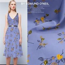 108cm Breadth Purple flower 19 mumi digital printing stretch satin summer mulberry silk dress cheongsam silk fabric