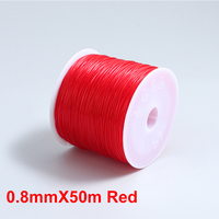 0.8mmX50m Red