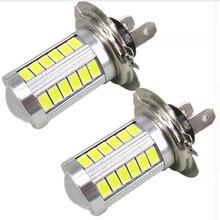 2PCs LED Light 33SMD H4 H7 H11 9005 9006 Auto Led Car Fog Lamp Daytime Running Lights Clearance Bulb DC12V Turning Parking Bulbs