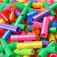 Bloques de construcción de tuberías de agua para niños, túnel para tubería de agua DIY, creador de coches, bloques de tubería educativos, juguetes para niños, 366 Uds.