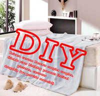 Dropship Benutzerdefinierte DIY Flanell Decken für Betten Gedruckt Senden Freund Mädchen Freund Geburtstag Geschenk Festival Home Textile Werfen