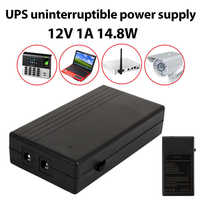 12V 1A 14.8W Multiuso Mini UPS Batteria di Backup di Sicurezza di Energia In Standby di Alimentazione di Continuità di Alimentazione Intelligente
