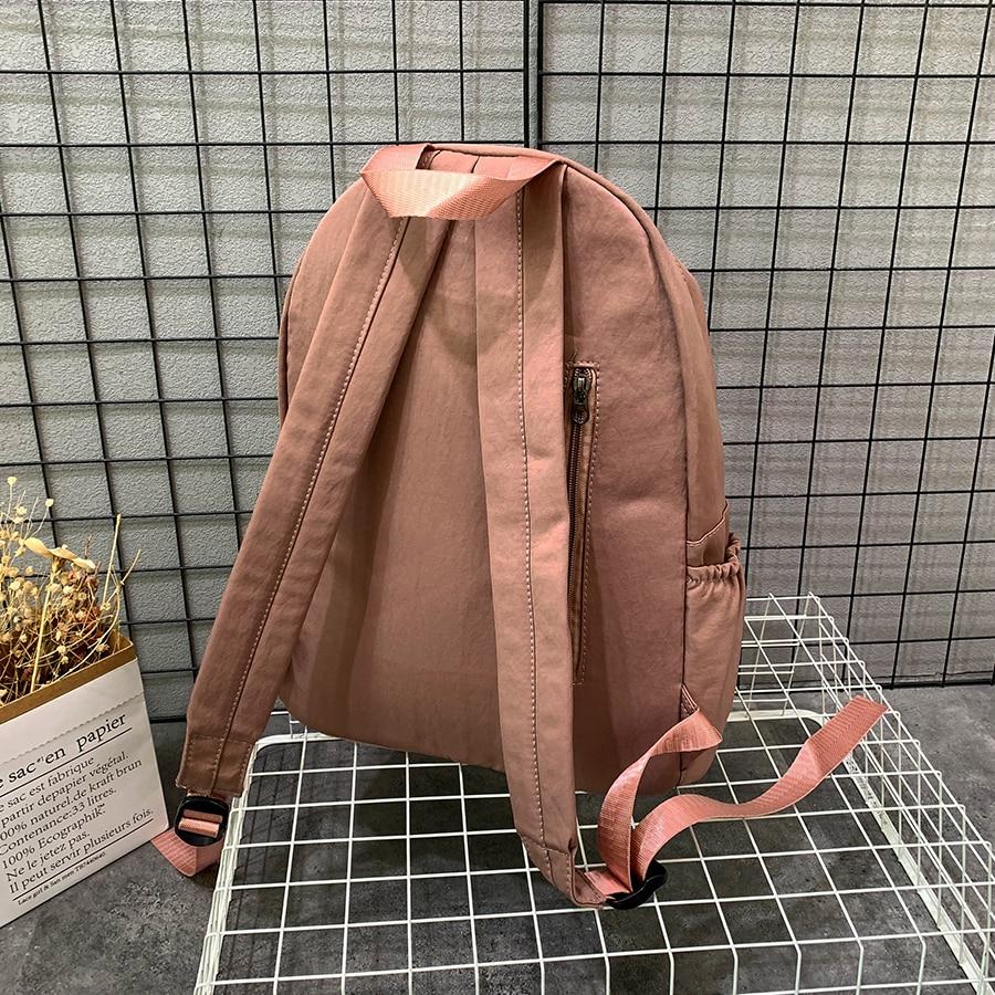 Купить с кэшбэком New Waterproof Women Backpack Large Capacity Travel Bag Purecolor Schoolbag for Teenagers Female Preppy Casual Backpack Mochila
