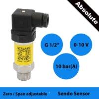 0 10 v sensor de pressão absoluta  3 fios  15 24 30 v dc excitação  10 barra absoluta  150 psi  1 mpa abs  eficaz na redução de custos  ip65
