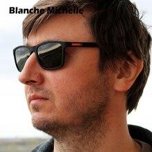 Wysokiej jakości TR90 rama okulary mężczyźni spolaryzowane Retro plac UV400 mężczyzna jazdy 2020 óculos z pudełkiem sunglasses men sun glasses