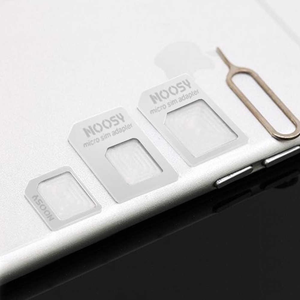 Dla 4/4S dla karty NANO SIM transformacji dla 5/5S/5C 4 w 1 dla NANO SIM Adapter z Pin karty czarny biały #1109