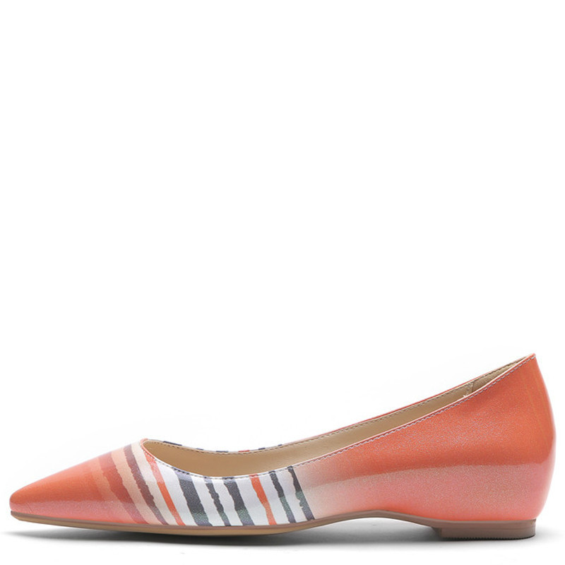 YECHNE Plus Size Streep Women Platform Shoes Be Teen Flats Mode Lent Herf Deep Platform Ballet Shoes Green