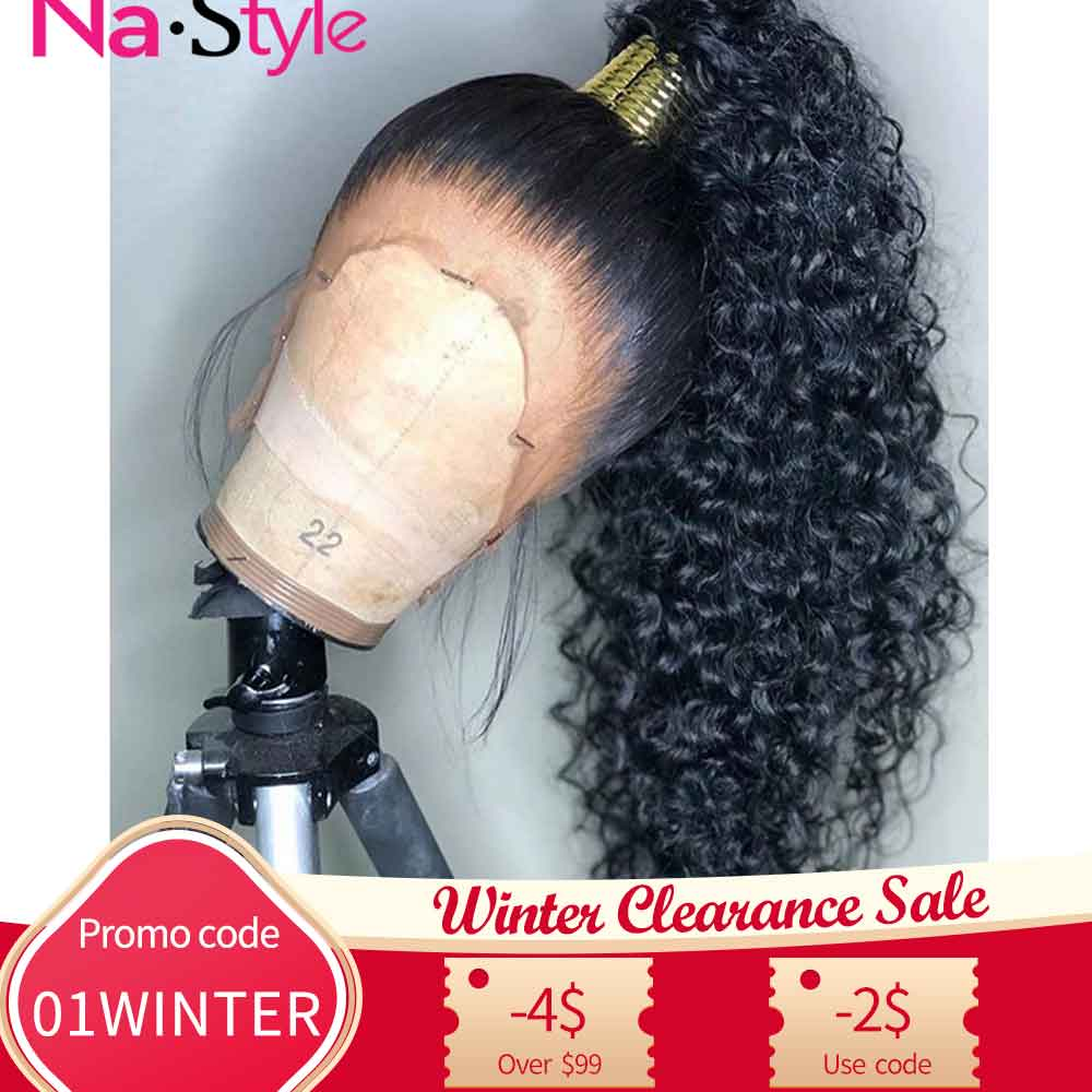 HD Transparent Invisible Lace Wig 360 Lace Frontal Human Hair Wigs Curly Long Preplucked Bleached Knots Natural Peruvian Remy