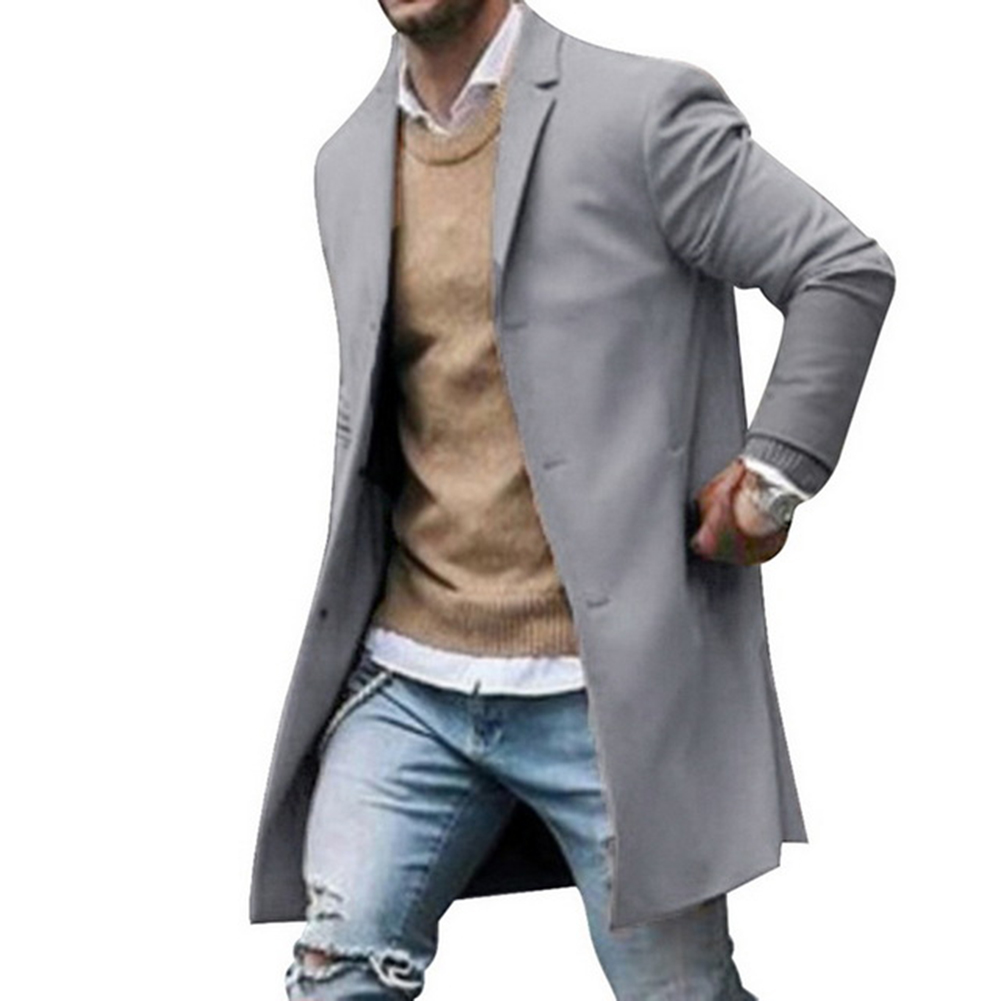 Men Winter Lapel Collar Faux Fur Lined Leather Single Breasted Coat Jaket Casual