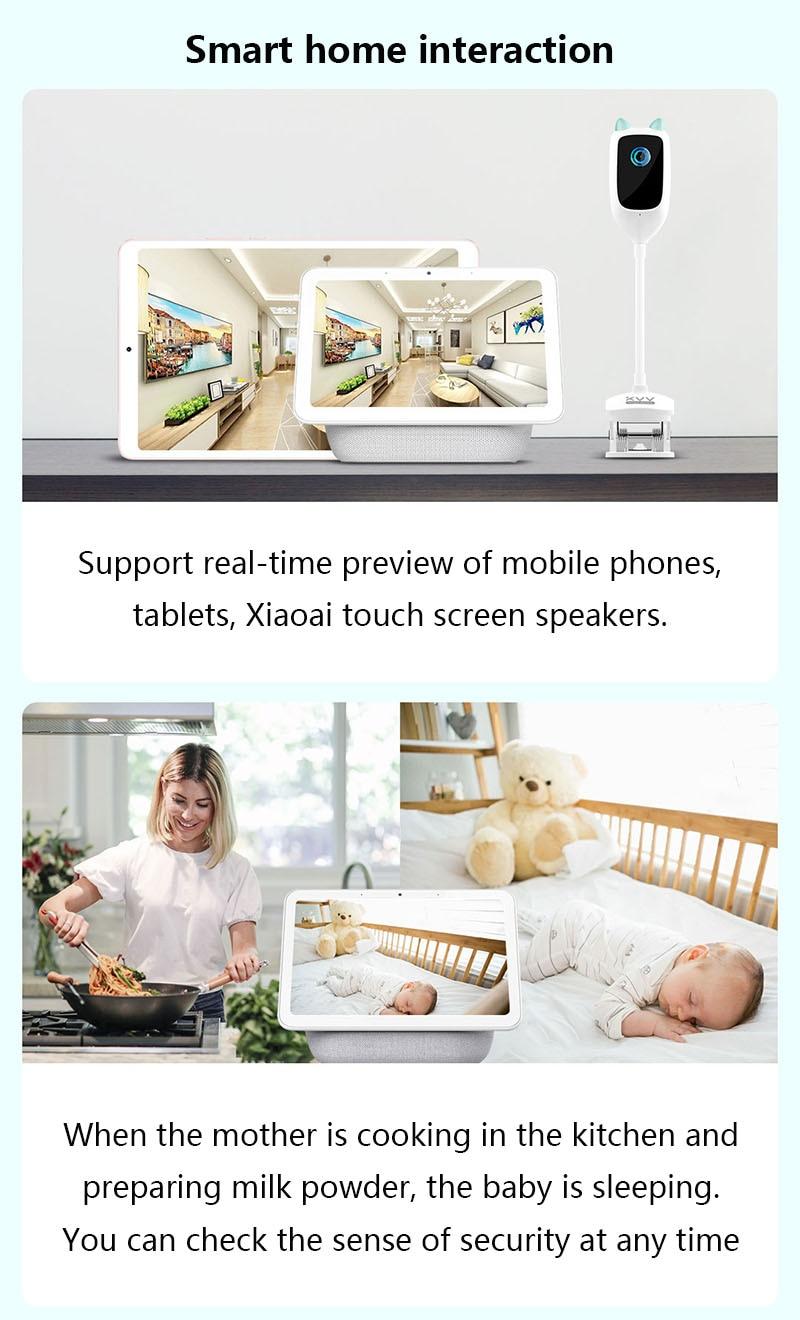 Youpin xiaovv inteligente bebê monitor de câmera