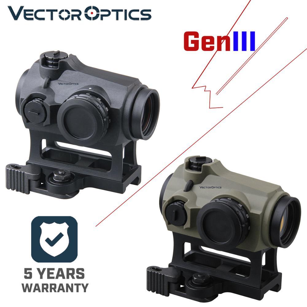 Vector Optics Maverick Gen3 1x22 Red Dot Scope Optic Sight Hunting Waterproof IPX6 QD AR Sight Rubber Armed .223 5.56 .308 7.62