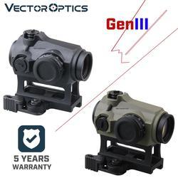 Vector Optics Maverick Gen3 1x22 punto rojo mira óptica caza impermeable IPX6 QD AR visor caucho armado. 223 5,56. 308 7,62