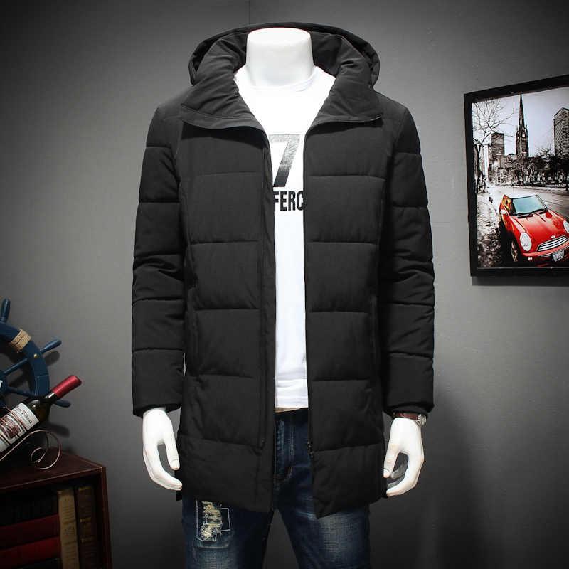 뉴 플러스 사이즈 겨울 남성 롱 코트 절묘한 팔 포켓 남성 솔리드 파카 따뜻한 커프스 디자인 통기성 패브릭 자켓 8xl 7xl