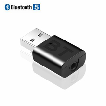 KEBIDU miniadaptador receptor Bluetooth para coche, inalámbrico, USB, AUX, para música, altavoces, Adaptador de Audio, Bluetooth 5,0