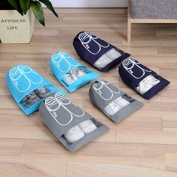 Non-woven bundle pocket travel shoes storage bag window shoes boots dust bag