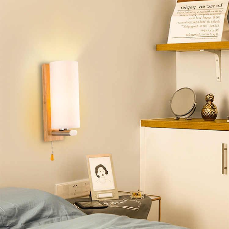 Houten Wandlamp Led Moderne Wandlamp Van Het Hoofd Van Een Bed Slaapkamer Lampen En Lantaarns Van Zitkamer corridor Hotel