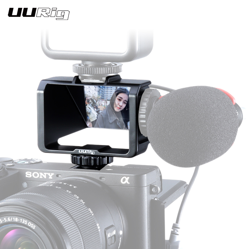 UURig Selfie Flip Screen For Sony A6000 A6300 A6500 A72 A73 Canon EOS Panasonic GX85 Nikon Periscope Solution Mirrorless Camera