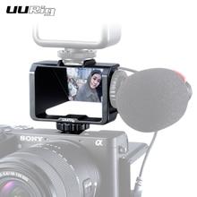 UURig Selfie Flip ekran için A6000 A6300 A6500 A72 A73 Canon EOS Panasonic GX85 Nikon periskop çözümü aynasız kamera