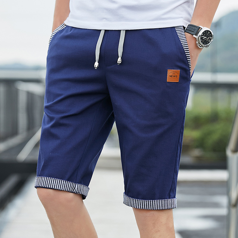 Men Casual Summer Plaid Patchwork Pockets Buttons Fifth Pants Loose Beach Shorts Male Summer Sports Workout Bottoms Clothing 3