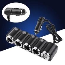 4-Way мульти-разъем автомобильного прикуривателя диспенсер Usb адаптер питания зарядное устройство с переключателем зарядное устройство двойной Usb порт для смартфона D