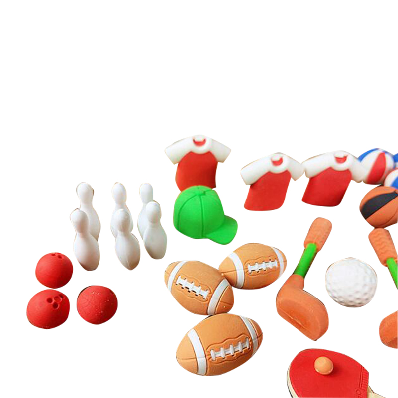 6 Pieces Per Lot Sports Club Rubber Eraser Football Suits Eraser Football School Stationery Supplies Eraser