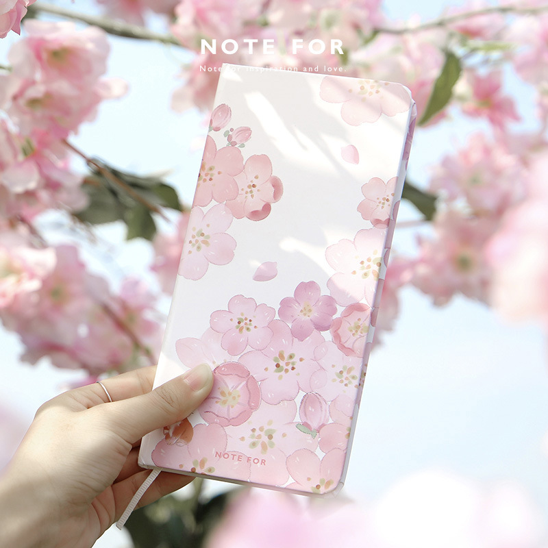 Note For Sakura Slim Weekly Planner 168P Portable 2020 Agenda Scheduler Book Undated Week Notebook 138mm*67mm