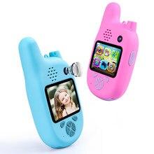1080p crianças quentes walkie talkie com vcr, mp3 video recorder foto 8 milhões de pixels câmera digital inteligente crianças quebra-cabeça jogos presente