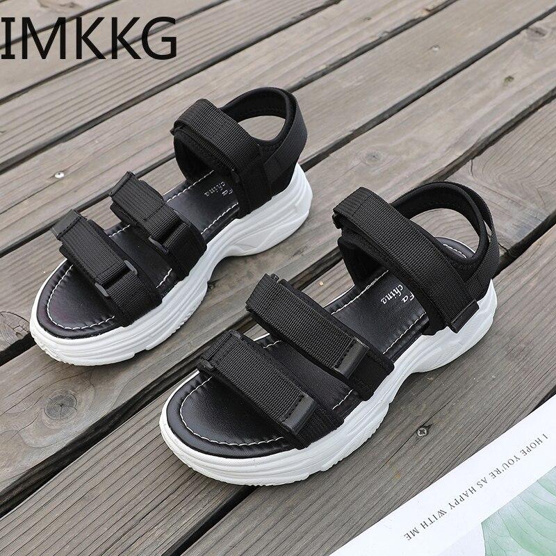 Women Sport Sandals Wedge Hollow Out Women Sandals Outdoor Cool Platform Shoes Women Beach Summer Shoes 2019 New F90141
