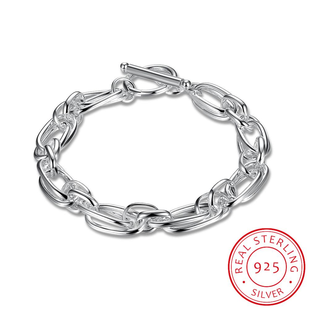 New Arrival Women Jewelry 925 Sterling Silver Bracelet Link Chain Bracelet Wholesale Gift