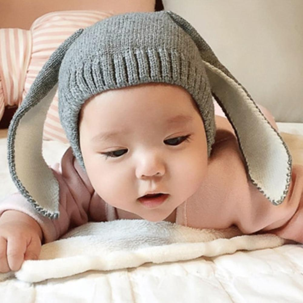 Baby Rabbit Bunny Ear Hat Toddler Kids Winter Warm Crochet Knit Earflap Cap Hat